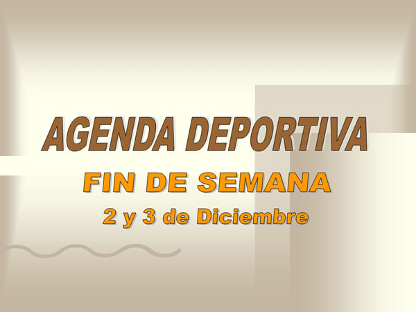 AGENDA DEPORTIVA (01/12/2006), Foto 1