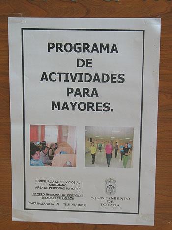 """SE PRESENTA EL """"PROGRAMA DE ACTIVIDADES PARA MAYORES 2007"""" CON UN TOTAL DE OCHO TALLERES DE DIVERSAS TEMÁTICAS, Foto 3"""