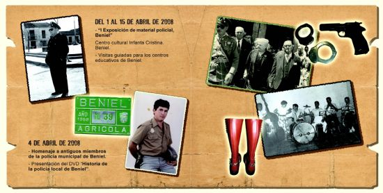 """LA COLECCIÓN MUSEOGRÁFICA DE LA POLICIA LOCAL DE TOTANA SE EXPONE EN EL CENTRO CULTURAL """"INFANTA CRISTINA"""" DE LA LOCALIDAD DE BENIEL DEL 1 AL 15 DE ABRIL (2008), Foto 5"""