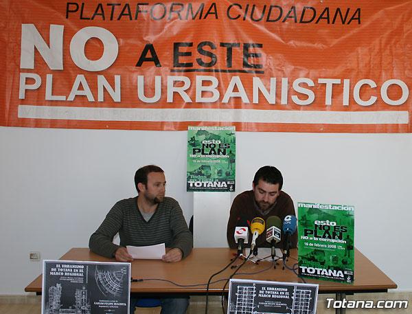 La Plataforma No a este plan urban�stico convoca una manifestaci�n contra la corrupci�n, Foto 1