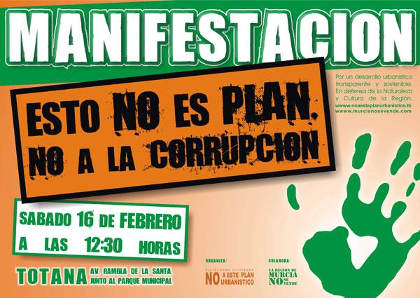 La Plataforma No a este plan urban�stico convoca una manifestaci�n contra la corrupci�n, Foto 3
