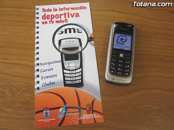 EL AYUNTAMIENTO OFERTA UN NUEVO SERVICIO GRATUITO DE INFORMACIÓN DEPORTIVA A TELÉFONOS MÓVILES POR SMS, QUE UTILIZARÁ NUEVO SISTEMA DE SMS MASIVO DE TOTANA.COM, Foto 3