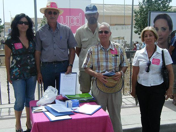UPyD en Totana asegura que m�s de 500 ciudadanos apoyan el Manifiesto por la Lengua com�n en Totana (2008), Foto 1