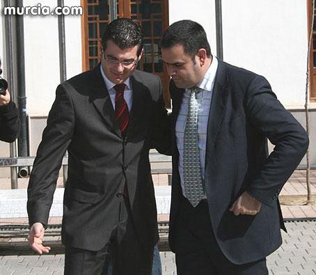 El alcalde de Totana, Jos� Mart�nez Andreo manda un mensaje de �nimo y apoyo al alcalde de Torre Pacheco, Daniel Garc�a Madrid, Foto 1