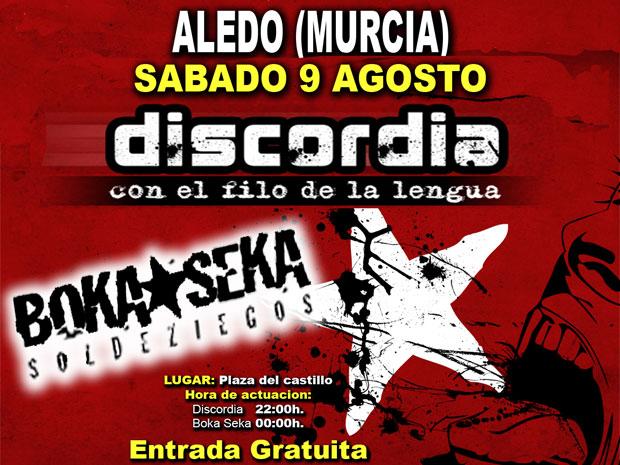 Primer concierto de Discordia en Aledo (2008), Foto 1