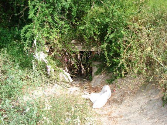 Los Concejales de IU + Los Verdes en Totana denuncian el retraso en la construcci�n de dos hincas bajo las v�as del ferrocarril y el peligro que supone para los vecinos del Barrio Ol�mpico (2008), Foto 4
