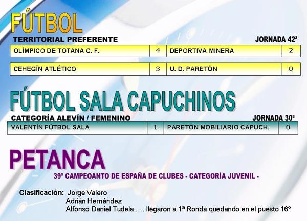 RESULTADOS DEPORTIVOS (12/06/2006), Foto 2