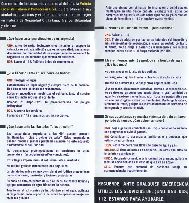 CAMPAÑA SEGURIDAD EN EL VERANO, CONSEJOS ÚTILES EN VIVIENDAS EN PRIMERA RESIDENCIA, TRÁFICO, CIVISMO Y URBANIDAD, Foto 3