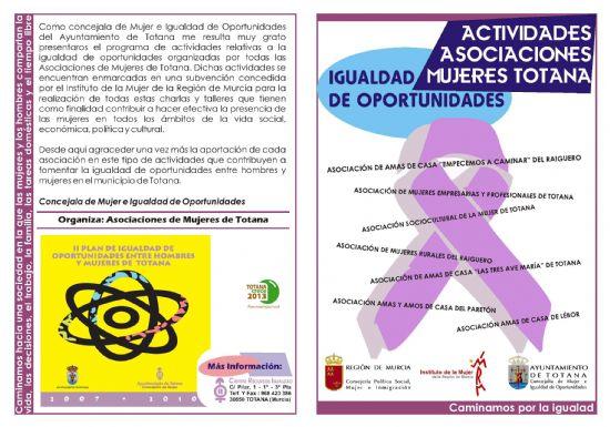 LAS ASOCIACIONES DE MUJERES DE TOTANA CONFECCIONAN UN AMPLIO PROGRAMA DE ACTIVIDADES RELATIVAS A LA IGUALDAD DE OPORTUNIDADES DURANTE LOS MESES DE FEBRERO Y MARZO (2008), Foto 2