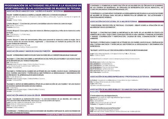 LAS ASOCIACIONES DE MUJERES DE TOTANA CONFECCIONAN UN AMPLIO PROGRAMA DE ACTIVIDADES RELATIVAS A LA IGUALDAD DE OPORTUNIDADES DURANTE LOS MESES DE FEBRERO Y MARZO (2008), Foto 3