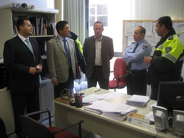 EL ALCALDE DE TOTANA RECIBE A UNA DELEGACIÓN DE CHILE QUE VISITA LA LOCALIDAD PARA CONOCER EL FUNCIONAMIENTO DEL PARQUE DE EDUCACIÓN VIAL (2008), Foto 1