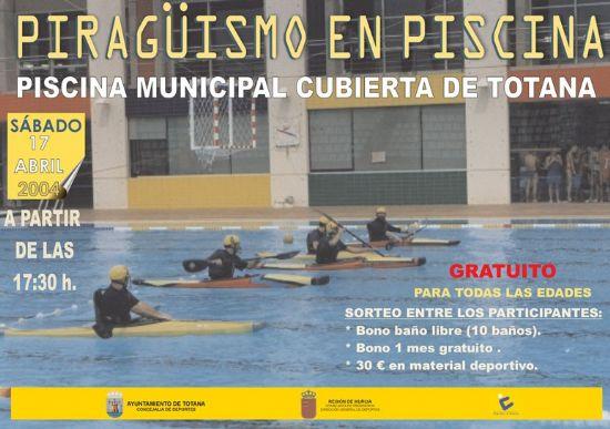 Concejalía de Deportes organiza actividades de piragüismo en la piscina climatizada para promover el conocimiento y práctica de este deporte, Foto 1