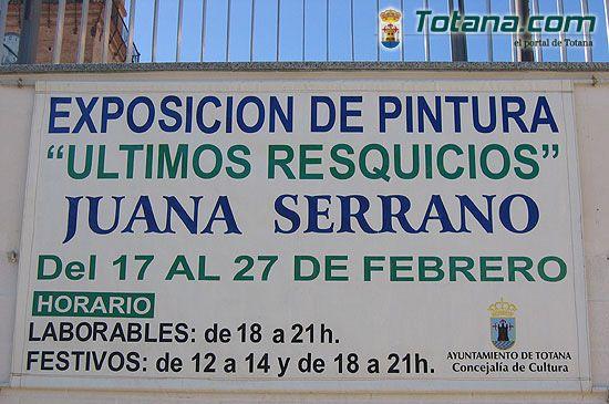 JUANA SERRANO EXPONE ÓLEOS ÚLTIMOS RESQUICIOS EN SALA GREGORIO CEBRIÁN   , Foto 1
