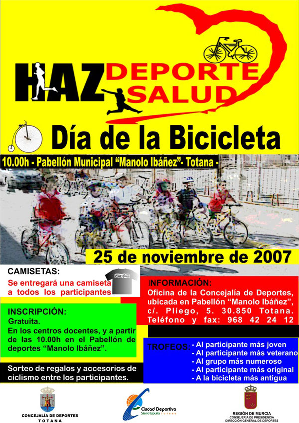 """LAS ACTIVIDADES DEPORTIVAS PRESENTADAS BAJO EL TÍTULO """"HAZ DEPORTE HAZ SALUD"""" ORGANIZADAS CON MOTIVO DE LAS FIESTAS DE SANTA EULALIA ARRANCAN EL DOMINGO CON EL """"DÍA DE LA BICILETA"""" (2007), Foto 7"""