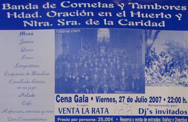 UNA FOTO DE TOTANA.COM ILUSTRA EL CARTEL DE LA CENA GALA ORGANIZADA POR LA BANDA DE CORNETAS Y TAMBORES DE LA POS� (2007), Foto 1
