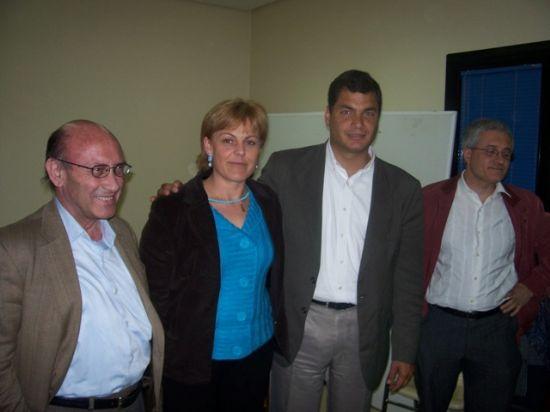 DIRIGENTES DE IU EN MURCIA SE ENTREVISTARON CON EL CANDIDATO DE LA IZQUIERDA EN ECUADOR, RAFAEL CORREA, Foto 1