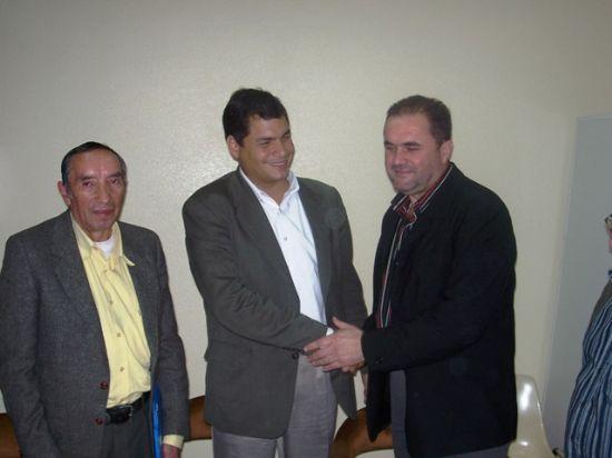 DIRIGENTES DE IU EN MURCIA SE ENTREVISTARON CON EL CANDIDATO DE LA IZQUIERDA EN ECUADOR, RAFAEL CORREA, Foto 3