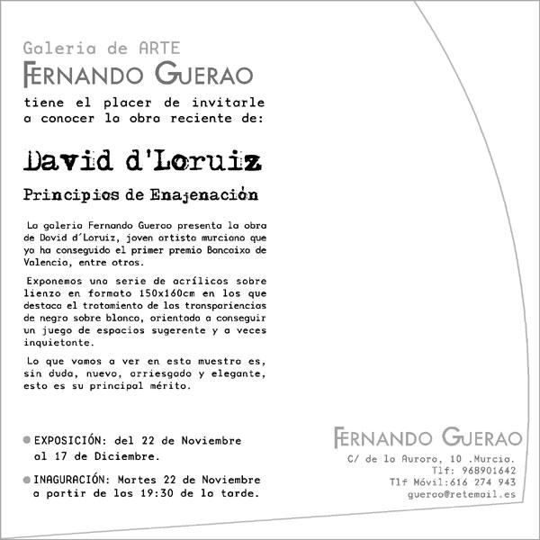 David d´Loruiz inaugua hoy martes su primera muestra individual en Murcia bajo el título de Principios de Enajenación, Foto 3