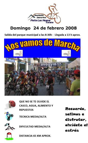 La asociación deportiva Peña Las Nueve de Totana organiza una salida ciclista para este domingo 24 de febrero, Foto 1