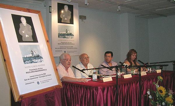 """PRESENTACIÓN DEL NUEVO LIBRO DE MATEO GARCÍA """"MISCELÁNEA MAZARRONERA"""", Foto 1"""