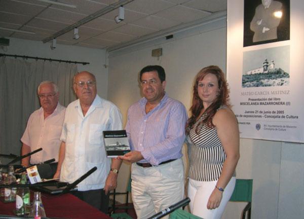 """PRESENTACIÓN DEL NUEVO LIBRO DE MATEO GARCÍA """"MISCELÁNEA MAZARRONERA"""", Foto 2"""