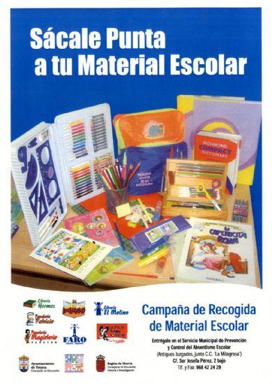 """LA CAMPAÑA """"SÁCALE PUNTA A TU MATERIAL ESCOLAR"""" RECOGE 350 LIBROS DE TEXTO Y NUMEROSO MATERIAL ESCOLAR DURANTE EL CURSO 2007-08, Foto 1"""