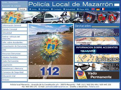 La Polic�a Local de Mazarr�n estrena p�gina web, Foto 1