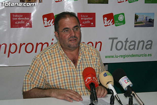 Izquierda Unida de Totana insta al Martínez Andreo para que tenga respeto por la Justicia y los profesionales de medios de comunicación, Foto 1