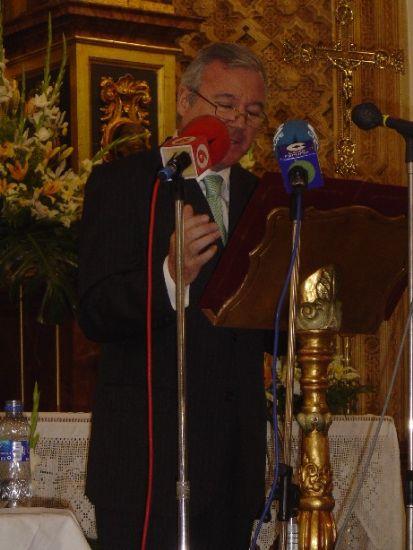 Se inicia la Semana Santa de Totana con el pronunciamiento del solemne preg�n a cargo del presidente regional, Ram�n Luis V�lc�rcel, con el que se abren los actos programados por el Ilustre Cabildo Superior de Procesiones, Foto 1