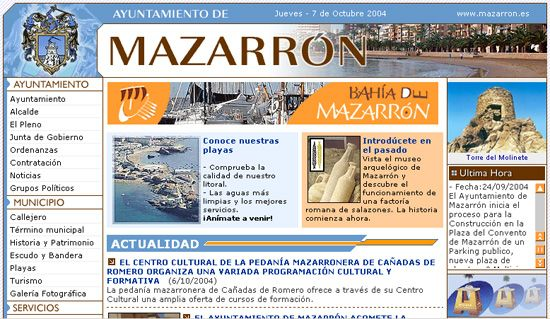 LA NUEVA P�GINA WEB DE MAZARR�N REGISTRA 30.000 VISITAS EN SU PRIMER MES EN LA RED, Foto 1
