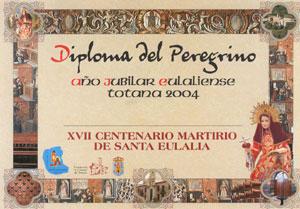 Ayuntamiento y comisión organizadora Año Jubilar Eulaliense presentan diploma del peregrino que se puede adquirir en el Santuario y oficina de atención jubilar , Foto 2