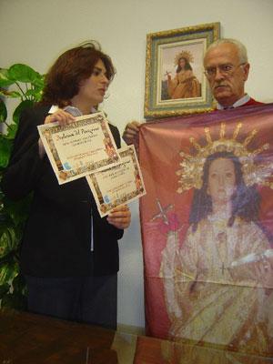 Ayuntamiento y comisión organizadora Año Jubilar Eulaliense presentan diploma del peregrino que se puede adquirir en el Santuario y oficina de atención jubilar , Foto 1