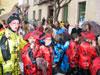 La lluvia no impide que los centros de enseñanza saquen a la calle el Carnaval infantil de Totana