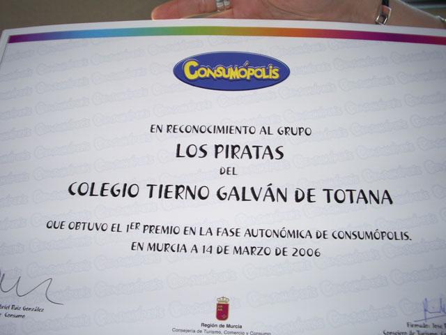"""LA CONCEJALÍA DE EDUCACIÓN FELICITA AL COLEGIO """"TIERNO GALVÁN"""" POR SUS ÉXITOS EN LA CONVOCATORIA DE LOS PREMIOS """"CONSUMÓPOLIS"""" QUE OTORGA LA COMUNIDAD AUTÓNOMA  (2006) - 42"""