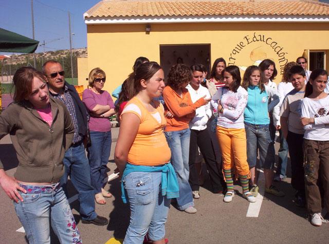 LOS COLEGIOS DE El CHIRIVEL Y DE MARIA DE LA VECINA PROVINCIA DE ALMERIA, PRACTICAN SEGURIDAD VIAL EN EL PARQUE DE EDUCACION VIAL DE TOTANA - 2