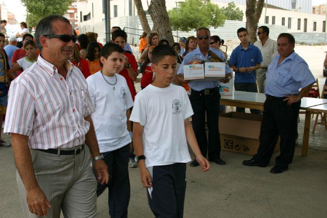 LOS ALUMNOS DEL EQUIPO DE EDUCACI�N VIAL DE TOTANA SON HOMENAJEADOS EN LA CLAUSURA DEL CURSO EN TORRE PACHECO - 5