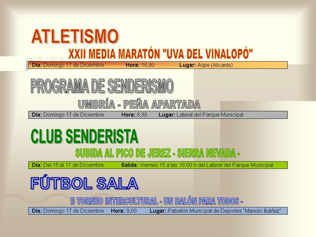AGENDA DEPORTIVA (14/12/2006) - 8