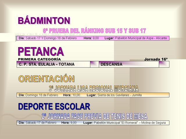 AGENDA DEPORTIVA (16/02/2007) - 6
