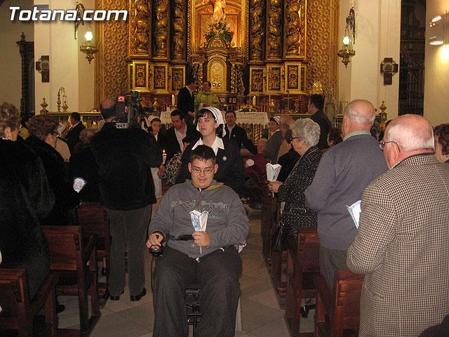NUMEROSAS PERSONAS PARTICIPARON EL PASADO S�BADO 10 DE FEBRERO EN UNA PROCESI�N EN HONOR A LA VIRGEN DE LOURDES - 10