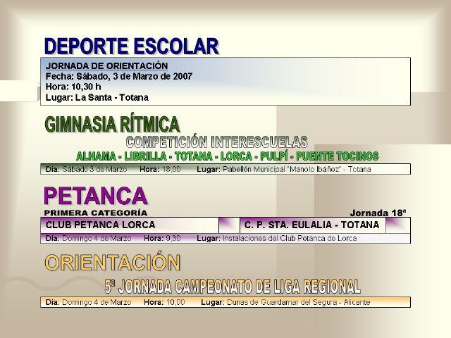 AGENDA DEPORTIVA (02/03/2007) - 6