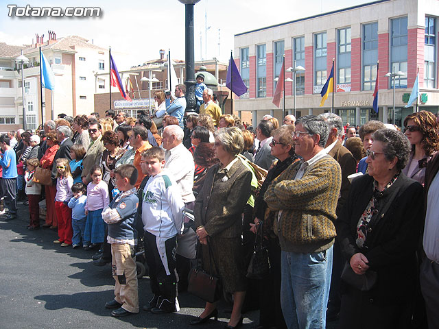 Ceremonia de entrega de la Bandera a los