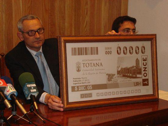 Los billetes del sorteo de la ONCE del lunes 5 de diciembre estuvieron dedicados a Totana, Foto 1