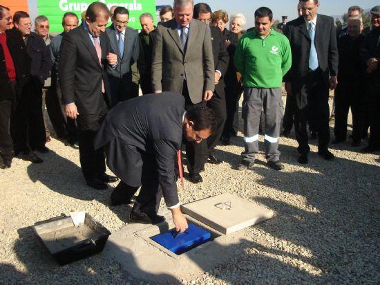 Ramón Luis Valcárcel colocó la primera piedra de la autovía Totana-Mazarrón, Foto 2