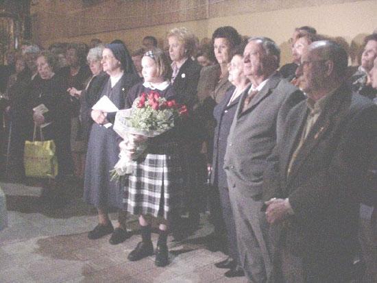 Homenaje a título póstumo de la comunidad educativa de «La Milagrosa» y la Ciudad de Totana a Sor Josefa Pérez, Foto 1