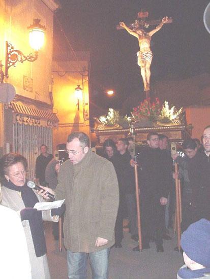 Numerosas personas participaron en el Vía Crucis organizado por la Hermandad de Jesús en el Calvario y Santa Cena, Foto 4